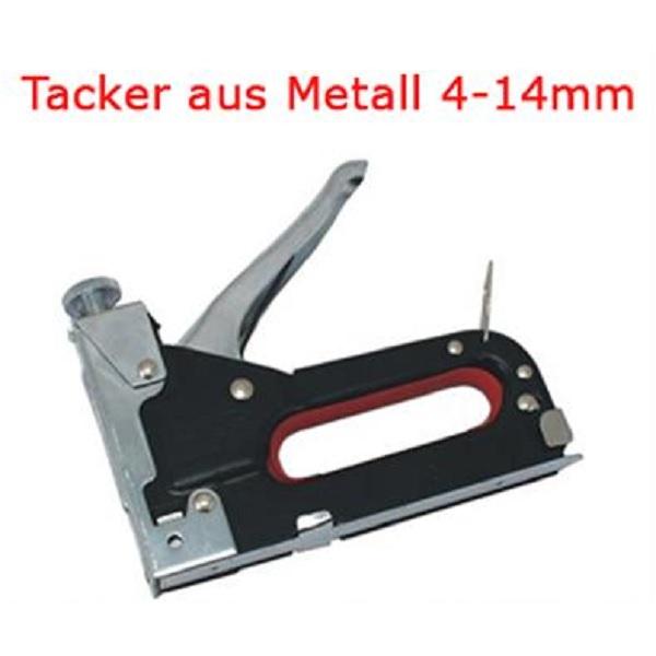 tacker metall f r klammern 4 14mm handtacker hefter incl 50 klammern ebay. Black Bedroom Furniture Sets. Home Design Ideas