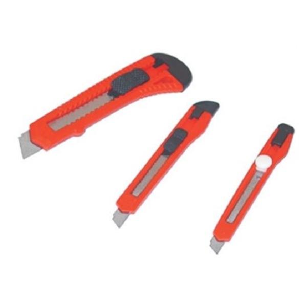 3 Stück Cuttermesser 18 mm, 9 mm Teppichmesser Abbrechklinge Abbrechmesser Satz