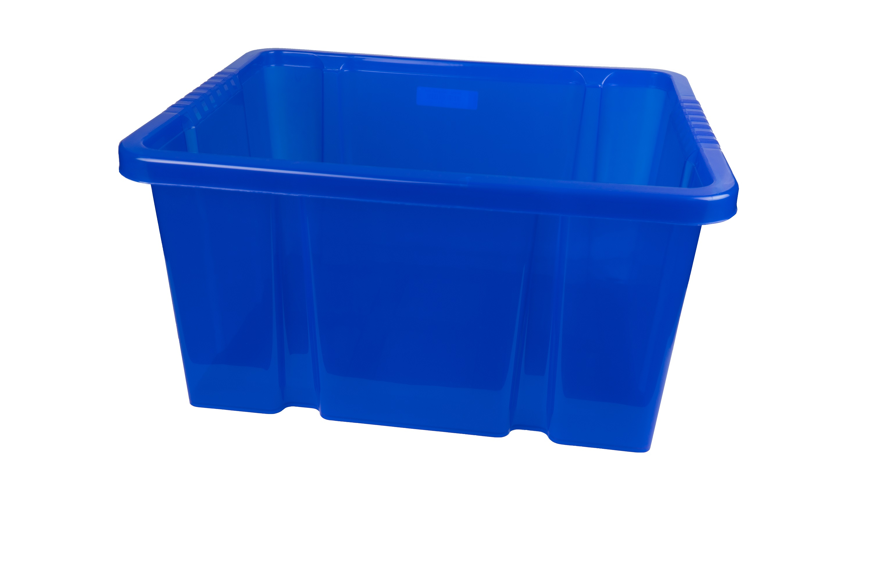 Dreh Stapelbox 27l 44x35x24cm Aufbewahrungsbox Multibox Lagerbox Blau