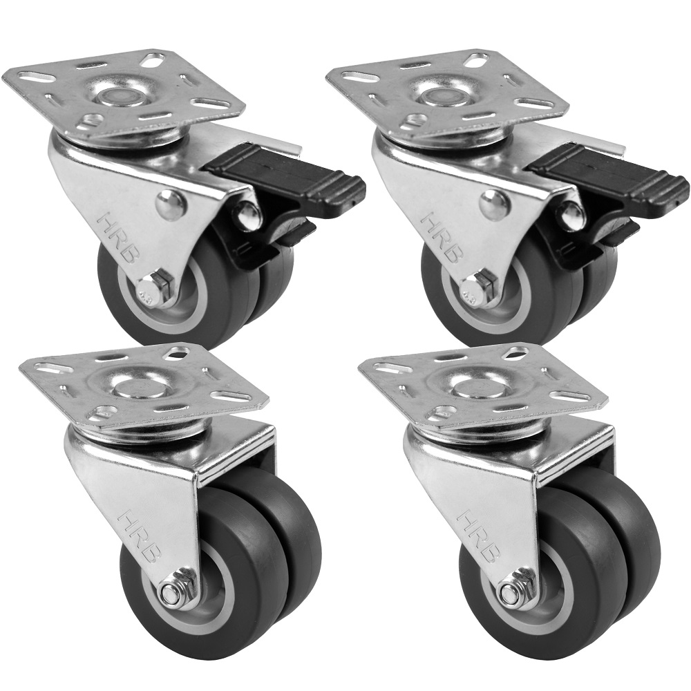 12 Stück 50 mm Apparaterollen Transportrollen Möbelrollen als Lenkrolle
