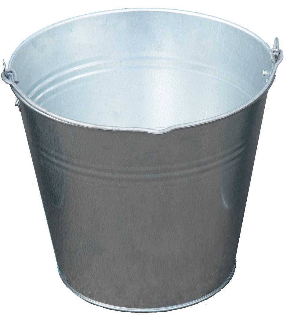 Zinkeimer 12 Liter, Eimer verzinkt Dekoeimer, Blecheimer Metalleimer Wassereimer