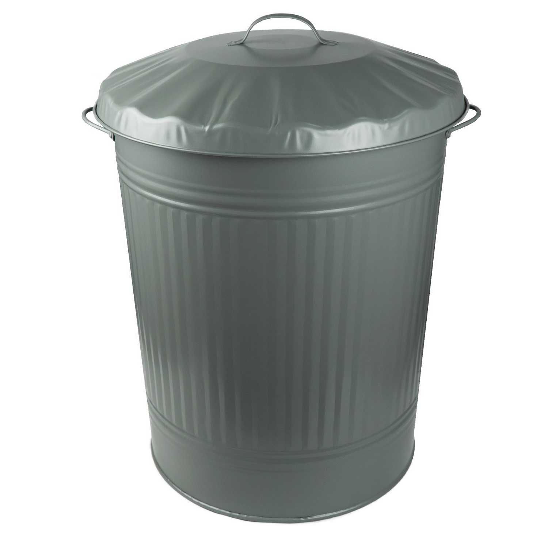Papierkorb Mülleimer Papiereimer Abfalleimer Büroeimer Metall 10 Liter Weiß