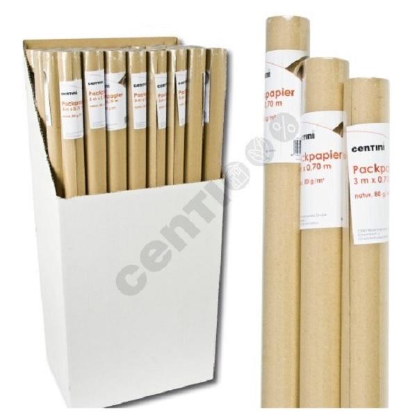 1 Rolle Packpapier<br> Natur Papier 3m x<br>0,70m