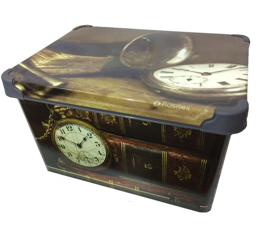 bedruckte aufbewahrungsbox lagerbox box mit deckel 22 5 liter 23 x 39 x 30 cm. Black Bedroom Furniture Sets. Home Design Ideas