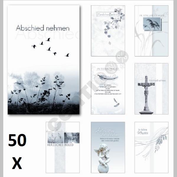 Beileidsbekundung Karte.50 Stuck Trauerkarten Beileidsbekundung Anteilnahme Beileid