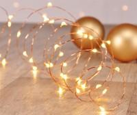 LED Lichterkette für Innen, Weihnachten, Beleuchtung 40 LED's batteriebetrieben