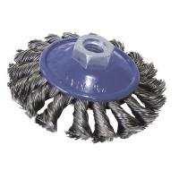 100 mm Kegelbürste, Scheibenbürste grob Zopfbürste Rundbürste gezopft M14