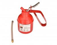 Ölkännchen 300ml, Metall mit Pumpe flexibel Schlauch Ölkanne Ölpistole Öl Kanne