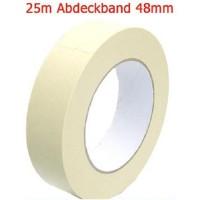 0,06 Eur/m Abdeckband 48 mm x 25 meter Kreppband Maler Krepp Band Abklebeband