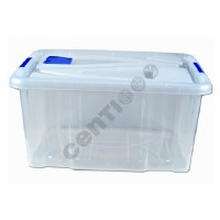 Aufbewahrungsbox Lagerbox Box mit Deckel, 55 Liter, 29 x 62 x 45 cm Stapelbox