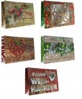 Geschenktüte Weihnachten Querformat klassisch - Groß 38 x 26 x 10 cm
