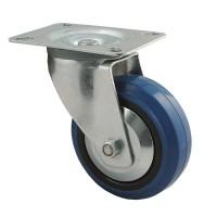 125 mm Transportrolle 150kg Lenkrolle Transportrollen Transport blue wheels