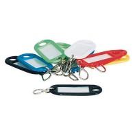 12 Stück Schlüsselschil?der Kofferschilder beschreibbar bunt Schlüsselanhän?ger