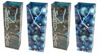 4er Set Flaschentüte Weihnachten X-Mas 36,5 x 12 x 8 cm