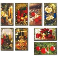 Weihnachtsgrußkarte Kerzenschein Fotokarte 10 x 18 cm