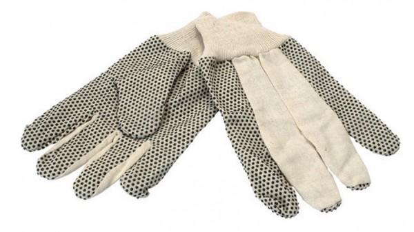 1 Paar Baumwollhandschuhe mit Noppen GR.10, Arbeitshandschuhe, Gartenhandschuhe