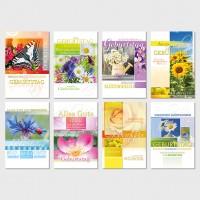 Glückwunschkarten Geburtstagskarten Grußkarten Blumen 11,5x17,5 cm
