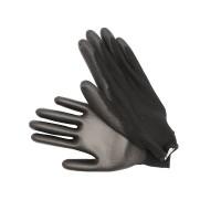 1 x Arbeitshandschuhe PU / Nylon Gr 10 Schwarz Mechanikerhandschuhe Handschuhe