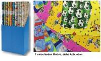 Kinder Geschenkpapier Rollen, Geschenkrolle Kids MIX, 2 m x 0,70 m