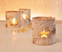 Teelichthalter aus Holz, Deko, Teelicht, Kerzenständer