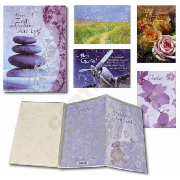 Glückwunschkarten Toscana Doppelkarten Karten S3, Hoch-/Querformat 690 Karten