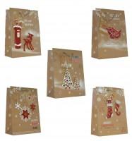 Geschenktüte Weihnachten Handmade - Medium 23 x 18 x 10 cm