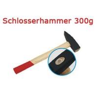 Schlosserhammer Schlosser Hammer mit Stiel aus Holz, 300 g