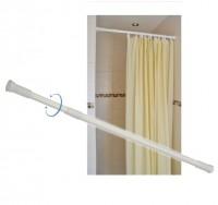 Duschvorhangstange Badewannenvorhang-Halterung Duschvorhanghalterung ausziehbar
