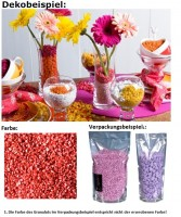 Deko Dekosteine Granulat Farbgranulat Steine Streudeko Farbe rot 2-3mm