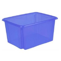Dreh Stapelbox 24l, 42x34,5x22cm Aufbewahrungsbox Multibox Lagerbox Blau