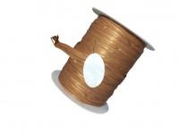 Rolle Schnur Geschenkband Raffia Farbe braun , marrone 10 mm x 15 m