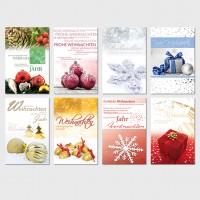 Moderne Weihnachtsgrußkarte mit Weihnachtsmotiven 11,5 x 17,5 cm