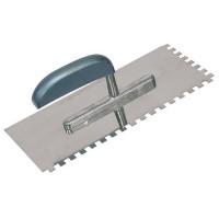 Zahnkelle Glättekelle 280 x 130 x 8 mm Edelstahl Zähne Zahnspachtel Aufziehkelle