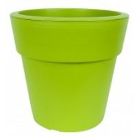 Pflanzkübel LINEA, Blumenkübel, Pflanztopf, grün, d= 16 cm, H= 15,5 cm,