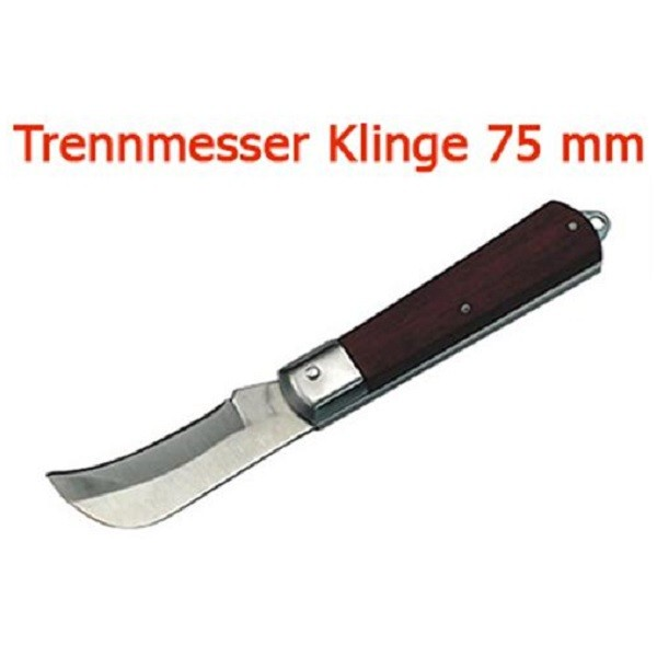 Trennmesser Klinge 75 mm Sichelform Taschenmesser Messer Klappmesser Einhand