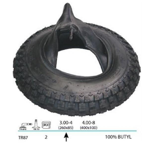 Mantel + Schlauch für Sackkarre 260 x 85 mm, 3.00-4 TR87 Butyl Reifen Decke