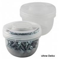 Dose, Universaldose, Aufbewahrungsdose mit Schraubdeckel, 0,5l, transparent