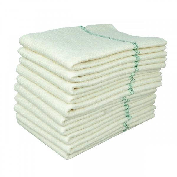 10 Stück Bodentuch 50 x 60 cm weiß Scheuerlappen Bodentücher Feudel Wischtücher Tuch