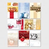 Weihnachtsgrußkarte Weihnachtskugeln Christbaumkugeln 11,5 x 17,5 cm