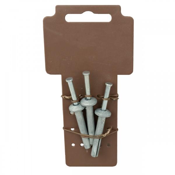 3 Stück Schlagdübel 6x40 mm Nageldübel Einschlagdübel Schlag-Anker Metall-Dübel