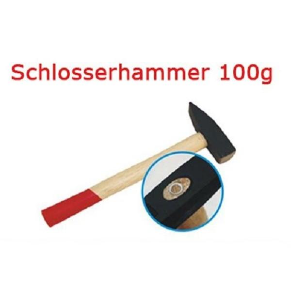 Schlosserhammer 100 g Schlosser Hammer mit Stiel aus Holz