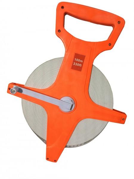 100 m Bandmaß Fiberglas Maßband Messband Rollbandmaß