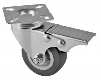 50 mm Lenkrolle mit Bremse 40 kg Lenk Rolle Möbelrolle Transportrolle