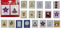 2 Stück hochwertige Geschenkanhänger Weihnachten, Handmade, Anhänger