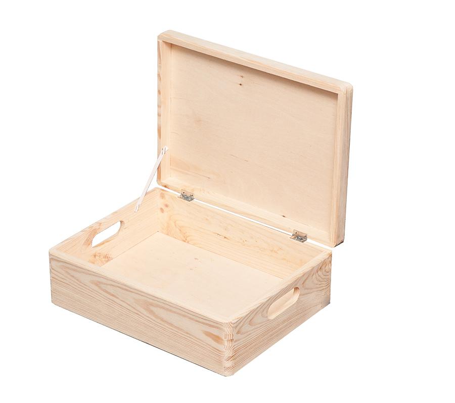 16 8l 30x40x14cm aufbewahrungsbox multibox lagerbox holzkiste mit deckel lagerboxen lagern. Black Bedroom Furniture Sets. Home Design Ideas