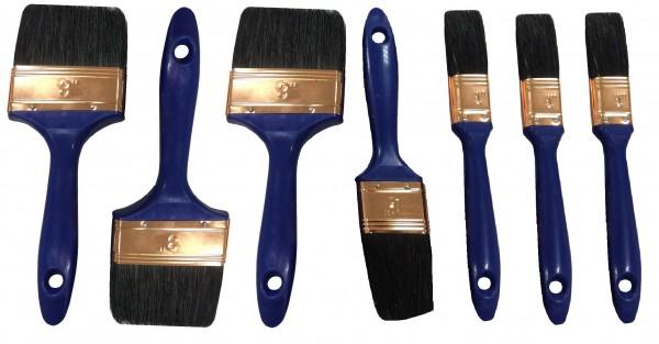 7 Stück Malerpinsel, Pinsel Set Flachpinsel Satz 7 tlg. Lackierpinsel Farbpinsel