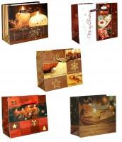 Geschenktüte Weihnachten farbenfroh - Micro 8 x 6,5 x 3,5 cm