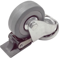 1 X 50mm Lenkrolle Transportrollen Rückenloch, Bremse Möbelrollen Apparaterollen