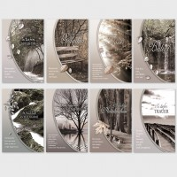 Trauerkarten Beileidsbekundung Anteilnahme Karten 11,5x17,5 cm