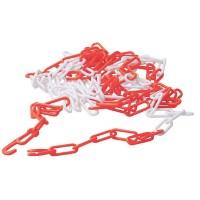 0,79 Eur/m 5 m Absperrkette, 5m Sicherheitskette Rot Weiß, Kunststoff Kette